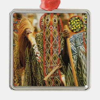 Banjouge Tribal  dancers, Cameroon Christmas Ornaments