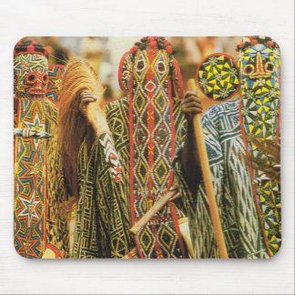 Banjouge Tribal  dancers, Cameroon Mouse Mat
