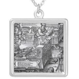 Bank Interior Silver Plated Necklace
