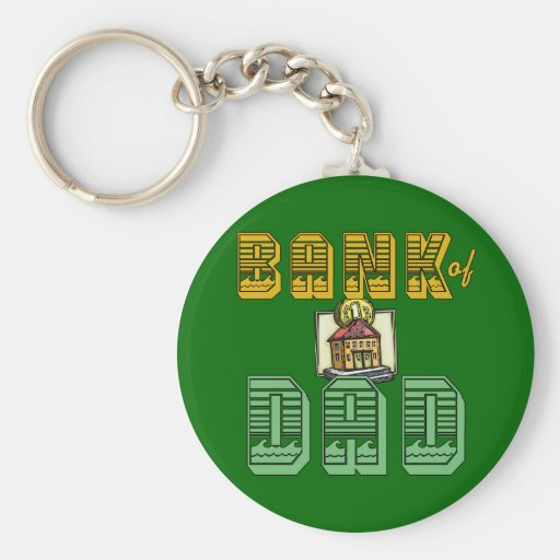 Bank of Dad Father's Day Products Keychain