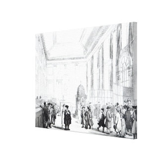 Bank of England, Great Hall, from Ackermann's Canvas Print