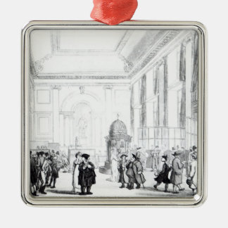 Bank of England, Great Hall, from Ackermann's Christmas Ornament