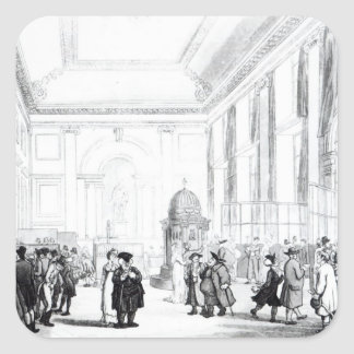 Bank of England, Great Hall, from Ackermann's Stickers