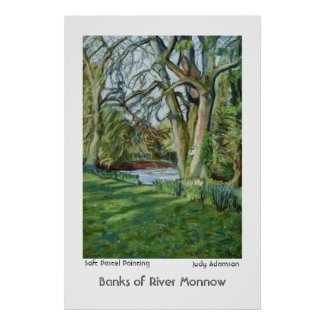Bank of River Monnow, Allt yr Ynys: Poster/Print