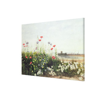 Bank of Summer Flowers Canvas Print