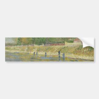 Bank of the Seine by Vincent Van Gogh Bumper Sticker