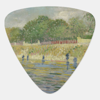Bank of the Seine by Vincent Van Gogh Guitar Pick