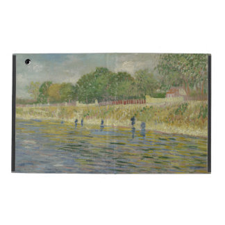 Bank of the Seine by Vincent Van Gogh iPad Folio Cases