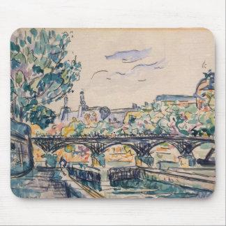 Bank of the Seine near the Pont des Arts Mouse Mat