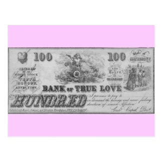 Bank of True Love Postcard