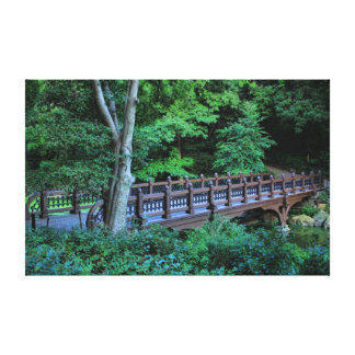 Bank Rock Bridge, Central Park, New York City Canvas Print