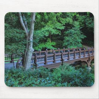 Bank Rock Bridge Central Park New York City Mouse Pads