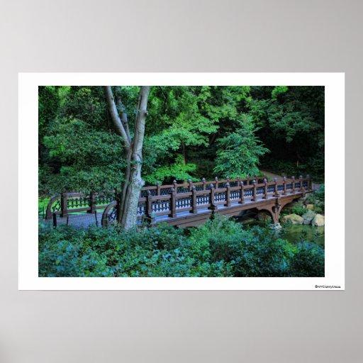 Bank Rock Bridge, Central Park, New York City Print