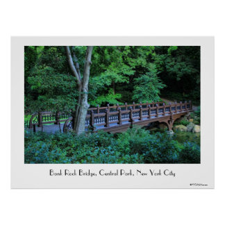 Bank Rock Bridge, Central Park, New York City Print