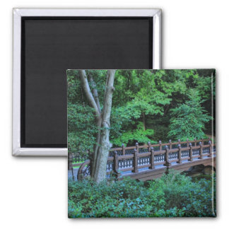 Bank Rock Bridge, Central Park, New York City Square Magnet
