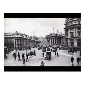 Bank & Royal Exchange, London Vintage Postcard