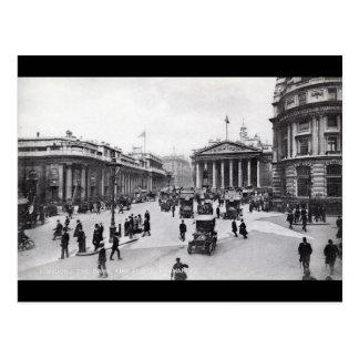 Bank & Royal Exchange, London Vintage Postcard