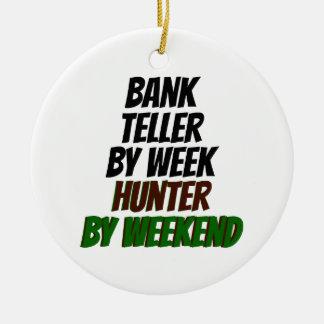 Bank Teller by Week Hunter by Weekend Christmas Ornament