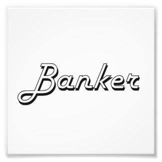 Banker Classic Job Design Photo Art