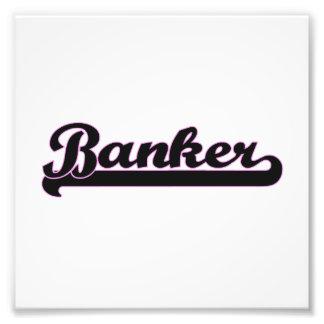 Banker Classic Job Design Photo