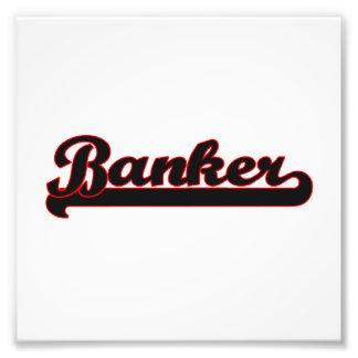 Banker Classic Job Design Photo Print