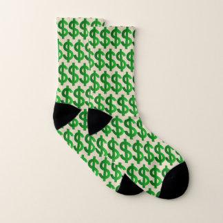 Banker Money Bags Baller Dollar Sign Cozy Socks