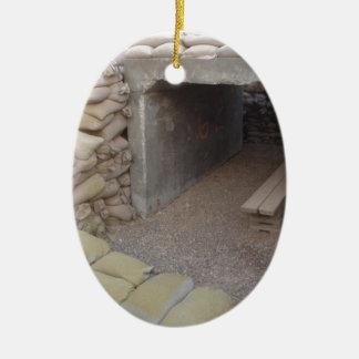 Banker sandbags protection ceramic oval decoration
