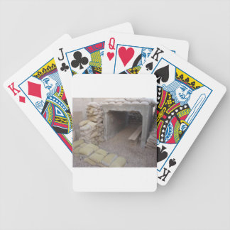 Banker sandbags protection deck of cards