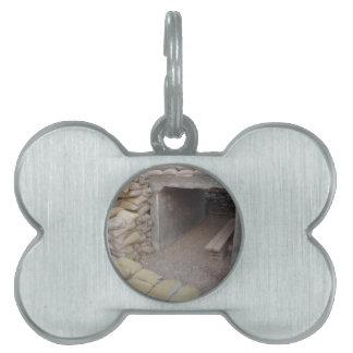 Banker sandbags protection pet tag