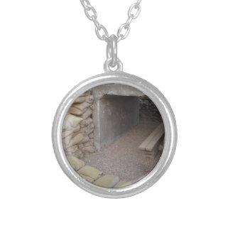 Banker sandbags protection round pendant necklace