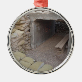 Banker sandbags protection Silver-Colored round decoration
