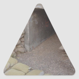 Banker sandbags protection triangle sticker