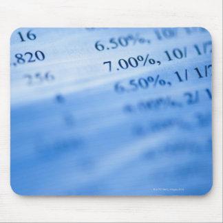 Banking charts mouse mat