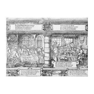 Banking Scene Canvas Print