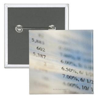 Banking statements 15 cm square badge