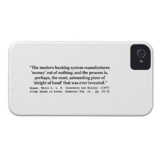 Banking Systems Manufacture Money Out Of Nothing iPhone 4 Covers