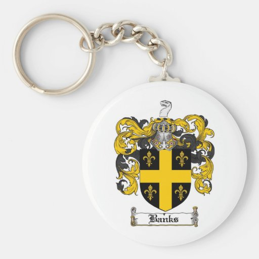 BANKS FAMILY CREST -  BANKS COAT OF ARMS KEY CHAIN