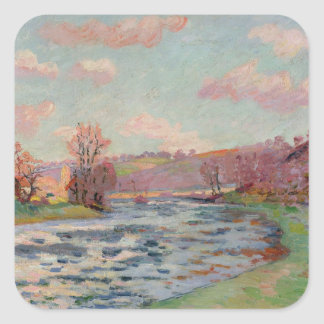 Banks of the Creuse, Limousin, c.1912 (oil on canv Square Sticker
