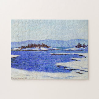 Banks of the Fjord at Christiania Monet Fine Art Puzzle