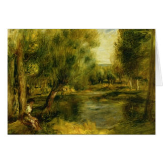Banks of the River by Pierre-Auguste Renoir Greeting Card