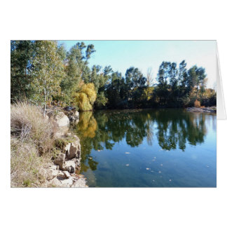 Banks of the River Mira, Portugal Card