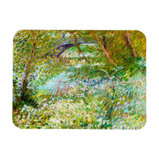 Banks of the Seine  Pont  Clichy Van Gogh painting Rectangular Photo Magnet