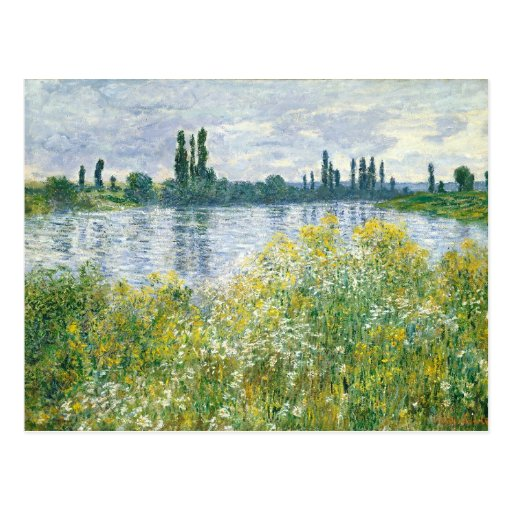 Banks of the Seine, Vetheuil, 1880 (oil Postcard