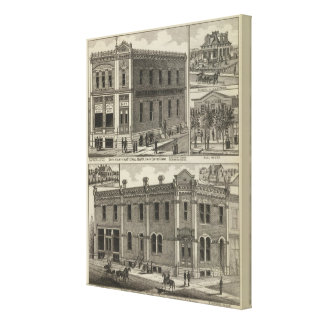 Banks, Residence, Hull House, Smith Centre, Kansas Canvas Print