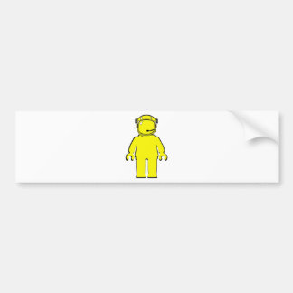 Banksy Style Astronaut Minifig Bumper Sticker