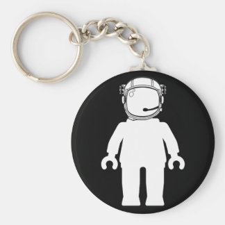Banksy Style Astronaut Minifig Key Ring