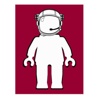 Banksy Style Astronaut Minifig Postcard