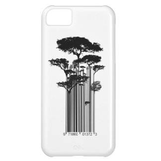 Banksy Style Barcode Trees illustration iPhone 5C Case