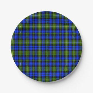 Bannatyne Scottish Tartan Paper Plate