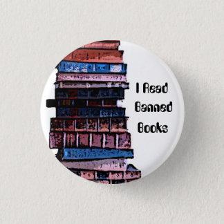 banned books 3 cm round badge